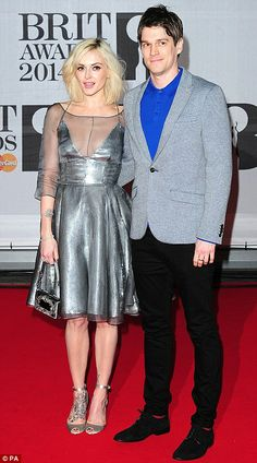 Coupled up: Radio presenter Fearne Cotton and fiancé Jesse Wood (left) and Rita with DJ boyfriend Calvin Harris