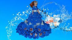 Кукла из конфет и гофрированной бумаги. Doll of sweets and corrugated pa...