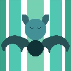 This cute little cross stitch pattern is perfect for those who are batty for bats! Beautiful colours, simple shapes, all the recognizable style of Cross Stitch the Line designs!