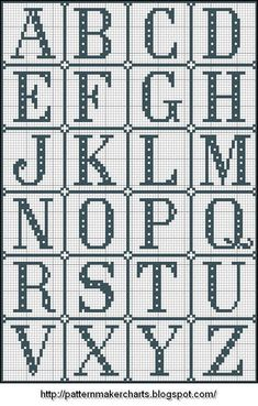 Great Photographs Cross Stitch letters Strategies Cross-stitch is a straightforward kind of needlework, compatible to the textiles offered to stitcher Crochet Letters Pattern, Cross Stitch Letter Patterns, Monogram Cross Stitch, Free Cross Stitch Charts, Disney Cross Stitch Patterns, Mini Cross Stitch, Cross Stitch Heart, Embroidery Monogram, Beaded Cross Stitch