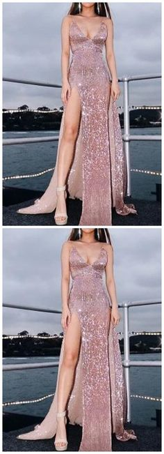 Prom Dress,pink Prom Dress,Mermaid Prom Dress   ML1701 by moonlight, $152.75 USD Sequin Prom Dresses, Ball Gown Dresses, Mermaid Prom Dresses, Homecoming Dresses, Sexy Dresses, Beautiful Dresses, Evening Dresses, New Party Dress, Party Dresses