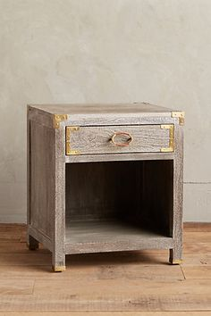 great take on updating campaign style. Portside Nightstand #anthropologie