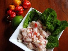 In Panama, this ceviche is made from corvina, a white, firm fleshed saltwater fish. Ayelet recommended grouper, sea bass, halibut, or red snapper, and I found Panamanian Food, Ceviche Recipe, Red Snapper, Iranian Food, Jewish Recipes, Sea Bass, Halibut, Molecular Gastronomy, Poached Eggs