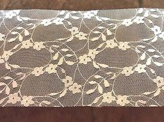 White Floral  Wide  Lace  4 1/2 inches   2 yard
