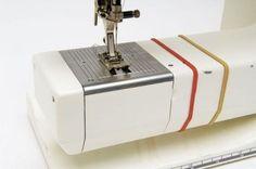 Rubber band as a guide of sewing   Elásticos com Guias de Costura