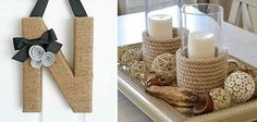 Sisal, Candle Sconces, Wall Lights, Diy, Xmas, Candles, Table Decorations, Bottle, Home Decor