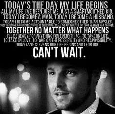 ...today's the day my life begins...and I for one can't wait