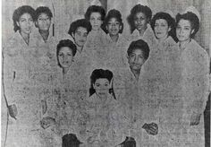 Mercy Hospital School of Nursing,Class of 1943 Portrait: Mary J. Reynolds, Helen E. Robinson, Hattie M. Johnson, Mabel M. Harmon, Ethel M. Huie, Margie M. Rodman, Minnie K. Reeves, Ruby L. Rose, Rose S. Wilson, Evelyn R. Page, and Anne E. Terrel. Image courtesy of the @nursinghistory.