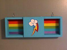 My Little Pony Rainbow Dash shadow box wall shelf. Perfect for My Little Pony Nursery!
