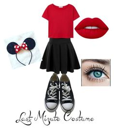 """Minney mouse"" by bel1213 on Polyvore featuring Doublju, Converse, MANGO and Lime Crime"