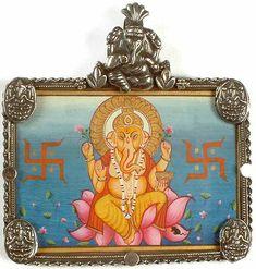 Ganesha Pendant With Hindu Swastika Symbol