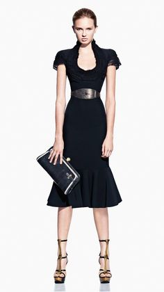 Alexander McQueen | Spring/Summer 2012 Collection, the little black dress is anything but simple.