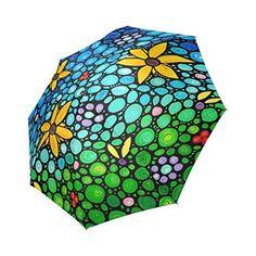Nueva llegada Original Fine Art pintura diseño Fashion portátil plegable paraguas sombrilla de regalos para las mujeres mini