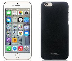 nice Case for iPhone 6 – Bear Motion Ultra Slim Back Cover Case for iPhone 6 with 4.7 inch Screen – Sand (Black)