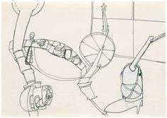 Eva Hesse - No title 1965 Ink and collage on paper 21 x 29.7 cm / 8 1/4 x 11 3/4 in - The Independent