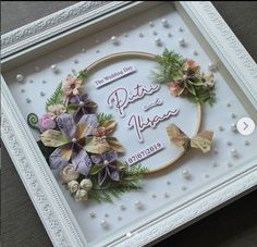 ahar and Ihsan… Flower Shadow Box, Wedding Gifts, Wedding Day, Money Origami, Arts And Crafts, Diy Crafts, Gift Packaging, Quilling, Paper Flowers