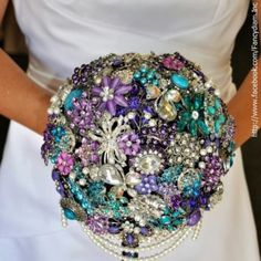 Diamond and gem stone bouquet