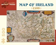 Map Of Ireland 500-piece Jigsaw Puzzle