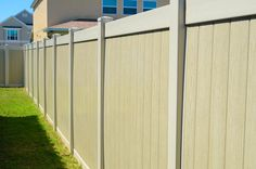 Custom installed vinyl fence by Osceola Fence Supply of Orlando. Florida's leading fence contractors offering wood, pvc, chain link, aluminum and ornamental iron railings, fencing and gates.
