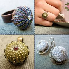 Jewelry rings gifts from the sea, carry ocean jewels in a fashion art statement peice