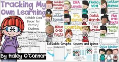 Editable Data Binder for Primary Students