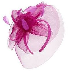 Womens fuchsia pink feather net fascinator from New Look - £19.99 at ClothingByColour.com Pink Feathers, Winter Colors, Fascinator, New Look, Palette, Colour, Women, Fashion, Color