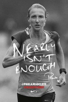 I identify with this face. Sure, I don't win marathons like Paula here, but I know what this look feels like.