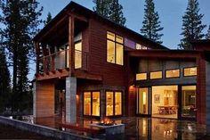 Maison bois préfabriquée en montagne par Studio Sagemodern – Truckee – USA | Construire Tendance