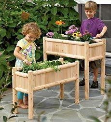 Kid-sized planters