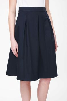 COS image 4 of Flared cotton skirt in Navy