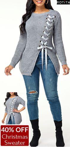 Buy Sweaters And Cardigans Online, Cardigan Sweaters For Women, Ladies Sweaters Cardigans Winter Sweater Outfits, Cardigan Sweaters For Women, Winter Sweaters, Pullover Sweaters, Mode Hijab, Winter Fashion, Christmas Fashion, Plus Size Fashion, Feminine Fashion