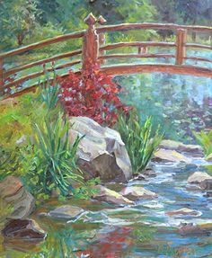 Peaceful Crossing by Diane Overmyer Oil ~ 20 x 16
