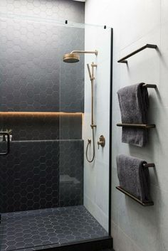 Even your glass shower door can improve the looks of your restroom instantly. You could utilize colorful glass shower doors or stained glass shower doors with different themes on stained glass. Bathroom Spa, Basement Bathroom, Bathroom Flooring, Bathroom Ideas, Bathroom Organization, Shower Ideas, Bathroom Cabinets, Bathroom Mirrors, Bathroom Storage