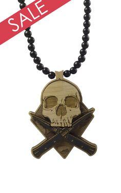 Combat Skull Pendant (Blk/Nat)