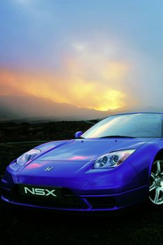 Blue Honda NSX #car #honda #blue