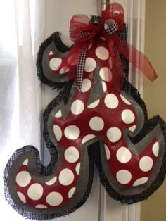 "alabama football door wreaths | Alabama Hand Painted Burlap Door Hanger. Measures approximately 24""x18 ..."