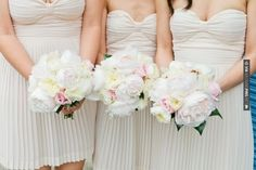 So good - The bridesmaid dresses + bouquets! Photo by Louisa Bailey. Full wedding here:   CHECK OUT MORE GREAT WHITE WEDDING IDEAS AT WEDDINGPINS.NET   #weddings #whitewedding #white #thecolorwhite #events #forweddings #ilovewhite #bright #pure #love #romance