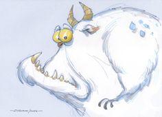 23: abominable {cartoon style} funny furry monster snowman yeti - bilderwumme-archive