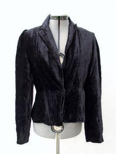 MARCIANO Black Velvet Single Button Jacket Blazer Size 8 #Marciano #Blazer