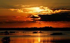 日没シルエット 夕焼けや朝焼け 自然 高解像度で壁紙