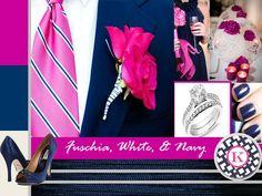 fuschia & navy blue | Royal Blue and Fuschia Wedding http://boldamericanevents.wordpress.com ...