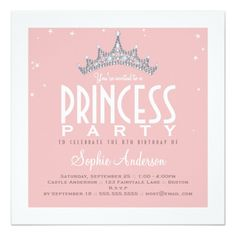 Free printable princess tea party invitations templates 2 paige pretty tiara princess birthday party invitation filmwisefo Image collections