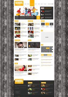 Rumors - News / Magazine  PSD Template  #design #webdesign #template #web #graphic #psd #photoshop #website #premium #news #magazine