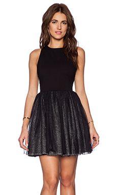 Greylin Vanessa Tulle Dress in Black
