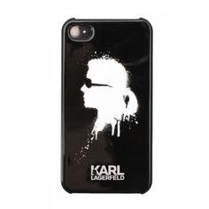 Coque rigide noire Karl Lagerfeld pour iPhone 5/5S
