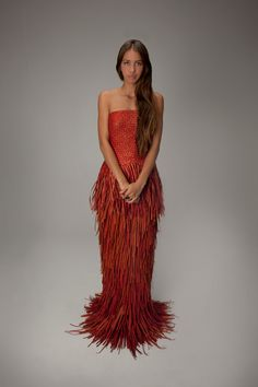 Woven designs by Maori fashion designer Shona Tawhiao. Photo courtesy of Beyond Buckskin.