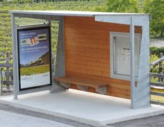 wooden bus shelters - Buscar con Google