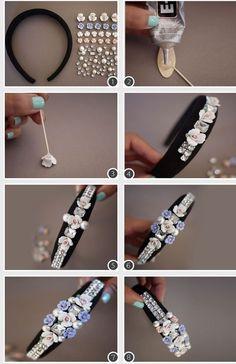 Comment fabriquer ses bijoux de cheveux, up to tutorial for hair jewelry.