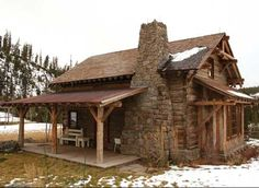So very tiny and so very cute reclaimed antique log home transformed into a…