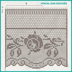 crochet curtain roses